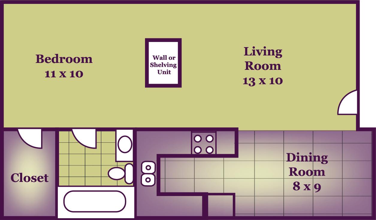 Jr. One Bedroom, 500, 485.00. One Bedroom, 650, 540.00